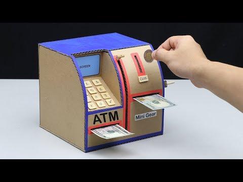 How to Make Personal ATM Machine - DIY ATM Machine (No DC Motor)