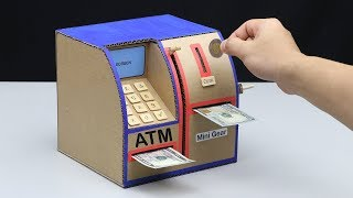 How to Make Personal ATM Machine - DIY ATM Machine (No DC Motor)