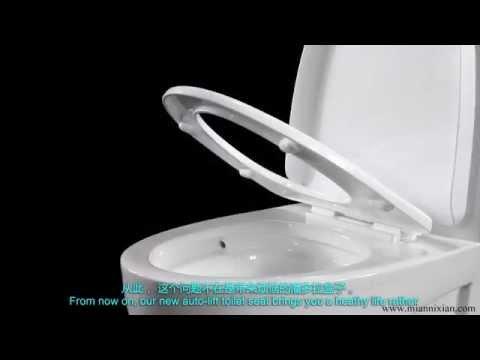 Minixi Auto-Lifting Toilet Seat,Self-Raising Toilet Seat,Self Moving Up,self lifting toilet seat