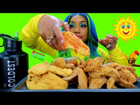 Hooks Fish And Chicken Mukbang, Guess My Hair Color Challenge!