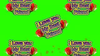 Happy Friendship Day Green Screen Effects - Happy Friendship Day speciel 3D Animated Video No 44