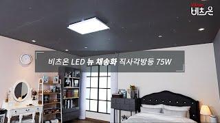비츠온 LED 뉴 채송화 직사각방등 75W