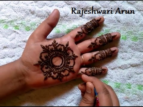 Simple Easy Mandala Henna Mehndi Designs For Kids Simple Mehndi