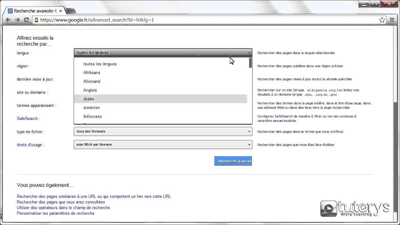 Comment Faire Une Recherche Approfondie Sur Internet Avec Google