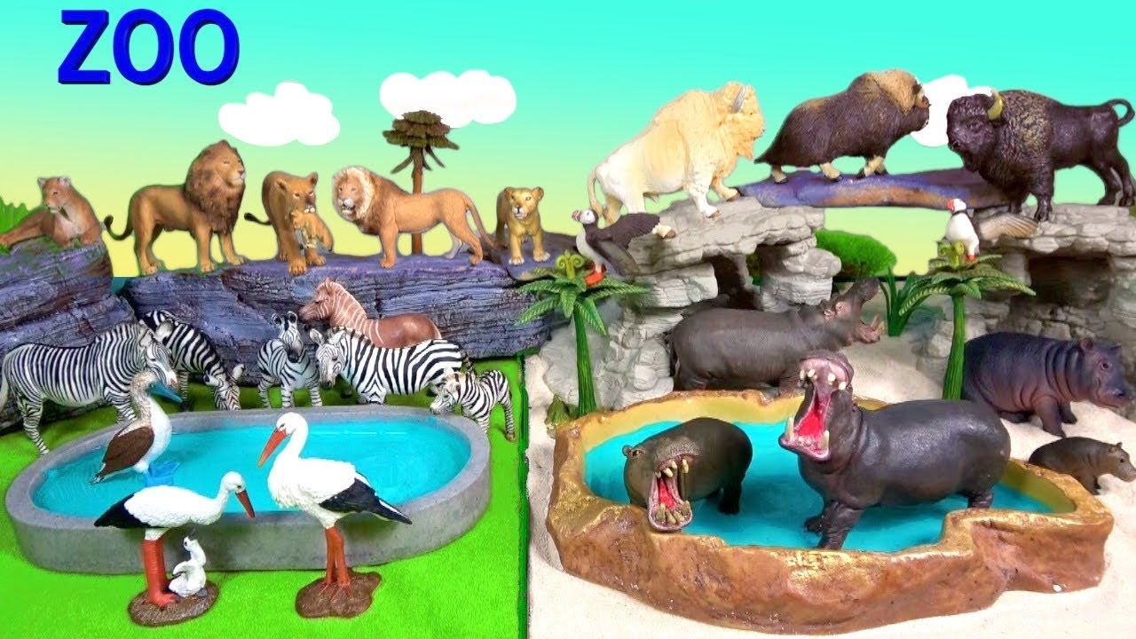Wild ZOO Animal Toys For Kids - Learn Animal Names and Sounds - Learn Colors - Educational