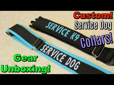 Custom Service Dog Collars! (Unboxing)