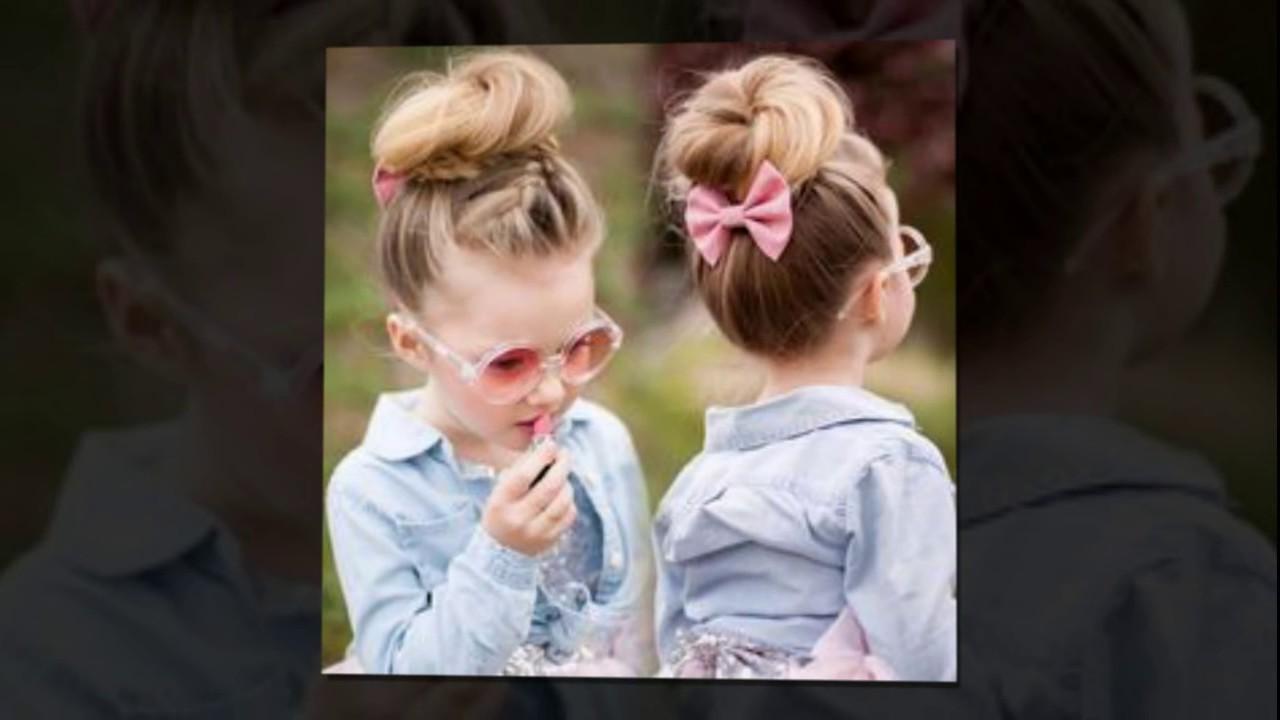 Kız Çocukları İçin Çok Güzel Topuz Saç Modelleri