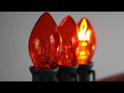 Orange C7 Twinkle Bulbs