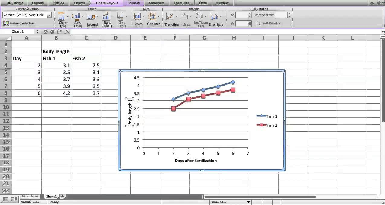 Making a scatter plot in Excel Mac 2011 - YouTube