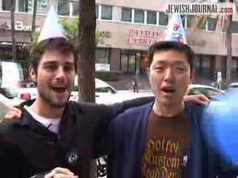 Happy Birthday Israel from Koreatown - with VideoJew