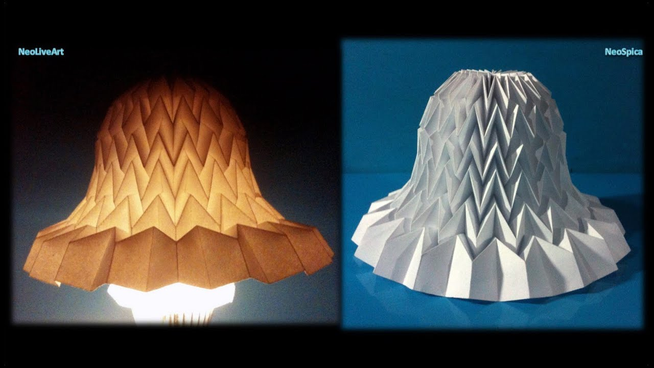 Tutorial 11 Paper Bell with miura fold / Lampshade BellYouTube