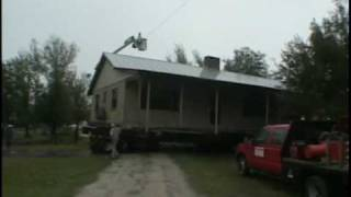 Moving a residential concrete block house