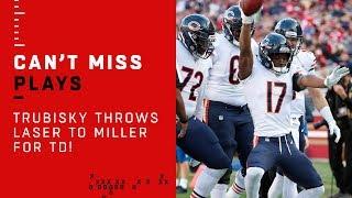 Mitch Trubisky's TD Toss to Anthony Miller