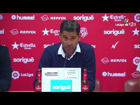 Rueda de prensa de Fernando Hierro tras el Nàstic vs Real Oviedo (2-2)