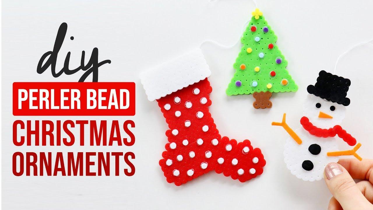 Beaded Christmas Ornaments Patterns.Diy Layered Perler Bead Christmas Ornaments Hgtv Handmade
