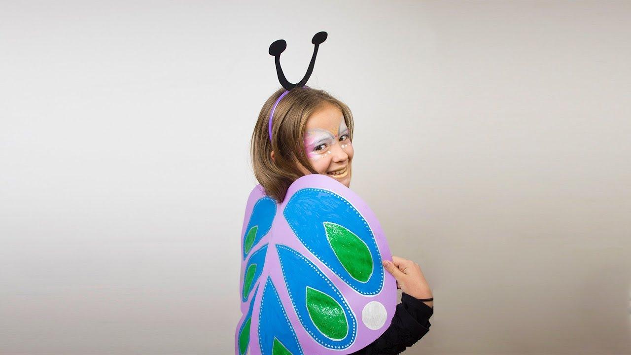 f4a54c837 Disfraz casero de mariposa o hada - Manualidades para niños - YouTube