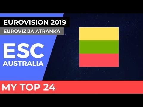 Eurovision Lithuania 2019 - Eurovizija Atranka - My Top 24