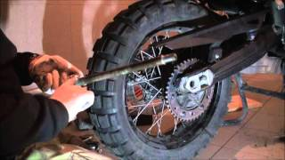 BMW F800 GS sprockets and chain relpacement part 2