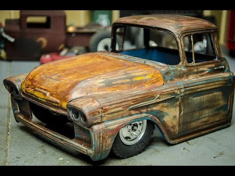 rc ratrod ramp truck build part 2 paint patina on the. Black Bedroom Furniture Sets. Home Design Ideas
