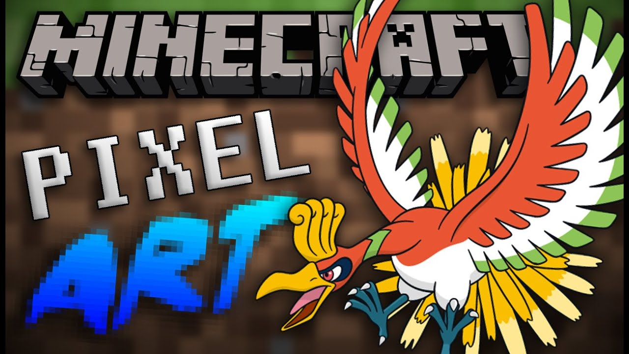 Ho Oh Minecraft Pixel Art Speed Build Youtube
