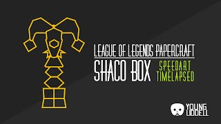 League of Legends - Shaco Box Papercraft - Timelapsed Speedcraft