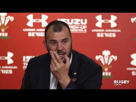 Spring Tour: Wallabies press conference, Cardiff