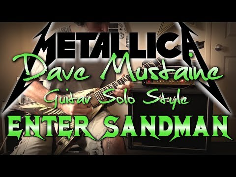 Enter Sandman Solo - Dave Mustaine Style