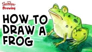 How to draw and paint a frog in watercolor - step by step