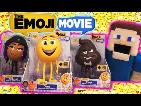The Emoji Movie Articulated Figures Toys Light UP Set Gene Jailbreak Poop unboxing Trailer Just Play