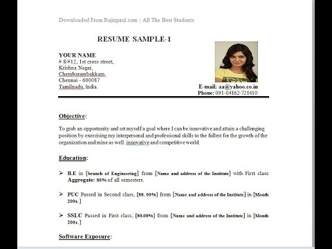 Add photo to the right corner of the resume and cv - YouTube - Resume To Cv