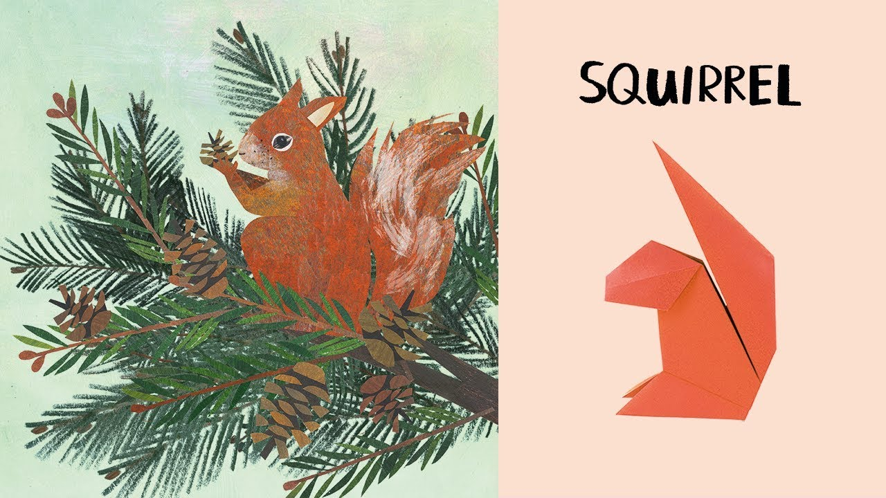 Squirrel nature origami youtube squirrel nature origami jeuxipadfo Choice Image