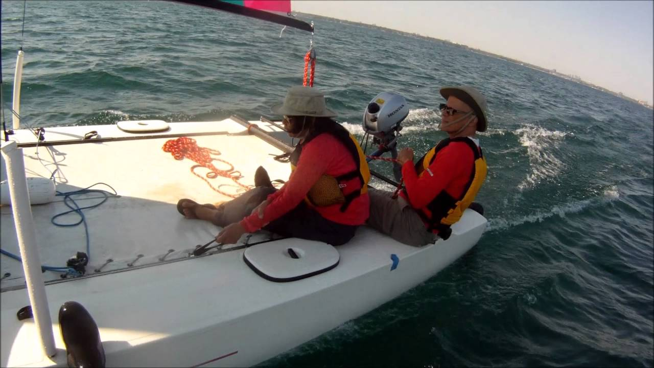 Sailing on a Hobie 21SC on the Labour Day Weekend 2016-08-05