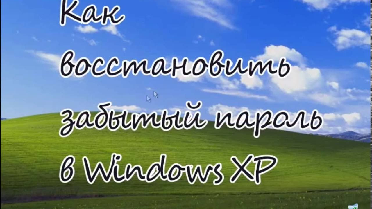 Как восстановить забытый пароль Windows XP?