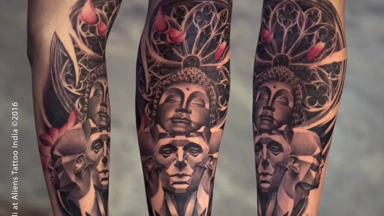 Buddha Tattoo Picture time lapse - making of buddha tattoosunny bhanushali