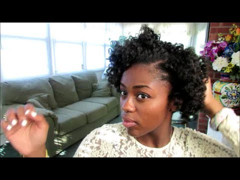 bantu knot out on 4c natural hair   youtube