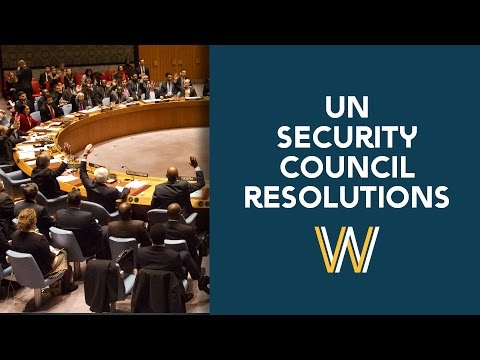 UN Security Council Resolutions