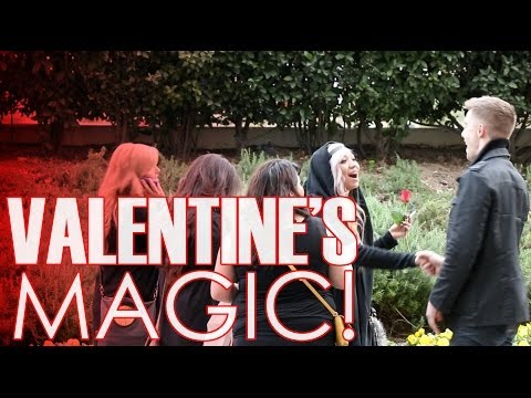 Giving Magic Valentines To Single Girls
