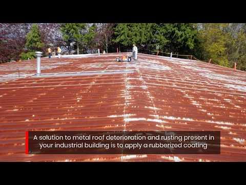 Industrial Metal Roof Repair Using SEBS Elastomeric Coatings