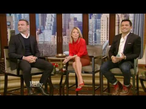 Liev Schreiber interview Live With Kelly 12/01/2016 co-host Mark Consuelos