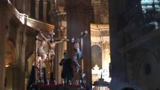 SEMANA SANTA DE MÁLAGA - DOLORES DEL PUENTE - CRISTO EN LA CATEDRAL - PARTE 2 (INTERIOR)