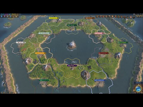 Civ 6 AI Only Timelapse: Donut Of Mankind's Fate
