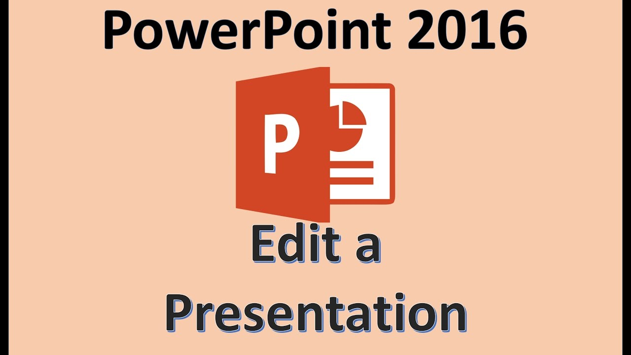 PowerPoint 2016 - Editing a Presentation - How To Edit a PPT or PPTX File  Format in Slides on Laptop