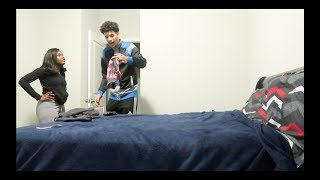 FOUND ANOTHER GIRL PANTIES PRANK ON BOYFRIEND!!