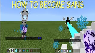 How to BECOME Sans in Minecraft PE (Battle Cartoon Cat and Gaster as Sans)