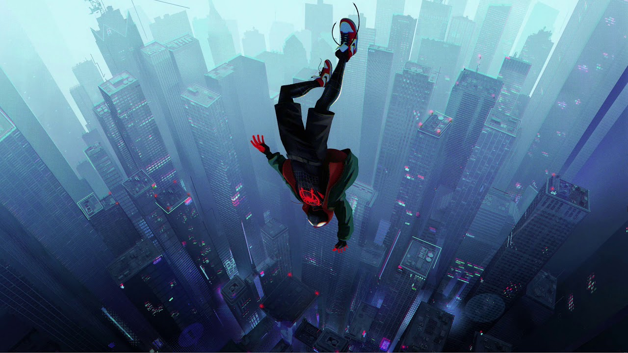 Spider Man Into The Spider Verse Falling Wallpaper Youtube