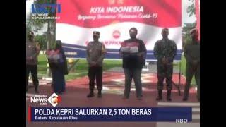 POLDA KEPRI SALURKAN 2,5 TON BERAS KE MASYARAKAT- Seputar Inews Kepri II RCTI