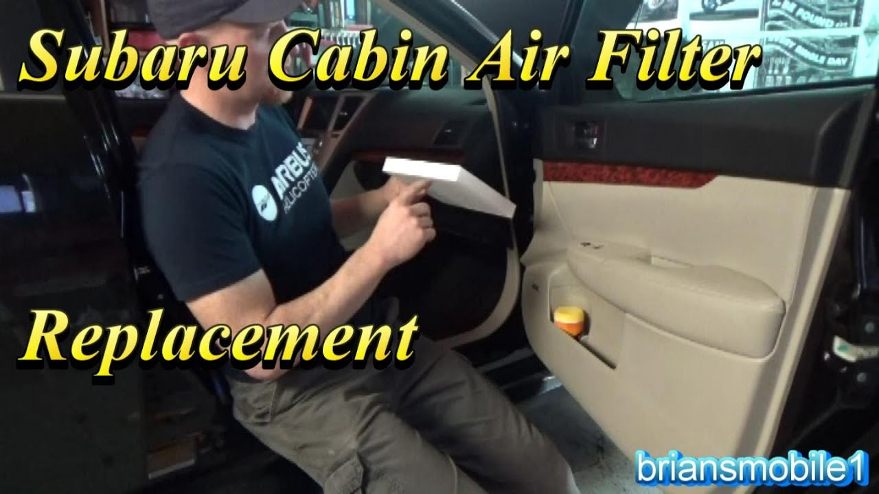 Subaru cabin air filter replacement youtube for What size cabin air filter do i need