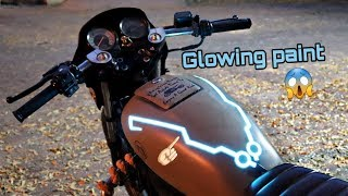 Glowing paint on petrol Tank in splendor + | modification only 300 rs 😱