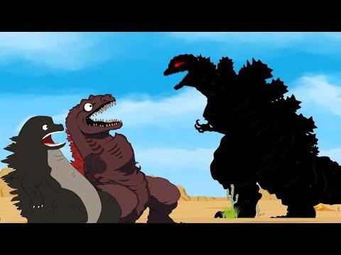 Godzilla Vs Shin Godzilla, PacMan: Evolution Of Shin Godzilla | Godzilla Movie Cartoon