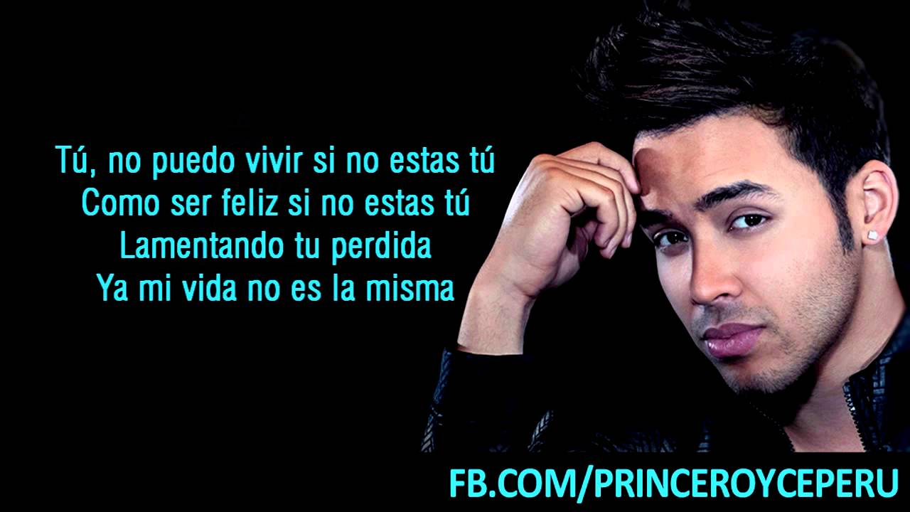 Prince Royce  Te Regalo El Mar  Letra  YouTube